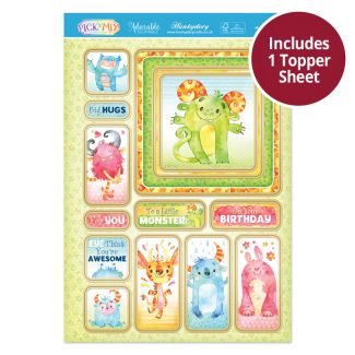 Pick 'N' Mix Topper Sheet - Monster Hugs