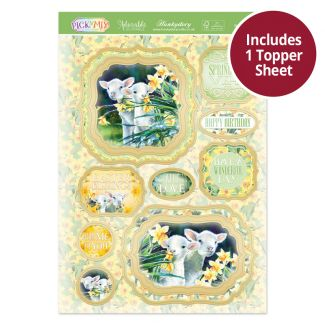 Pick 'N' Mix Topper Sheet - Spring Lambs