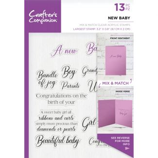 CC - Sentiment & Verses Clear Stamps - New Baby