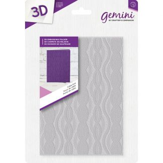 3D Embossing Folder - Cable Knit