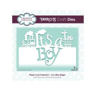 Paper Cuts Collection - It's A Boy Edger