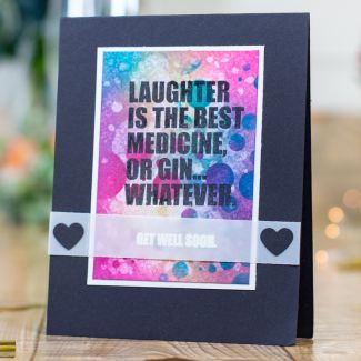 CC - Clear Acrylic Stamps - Get Well Soon