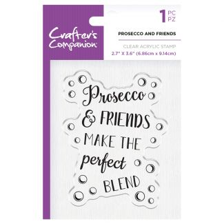 CC - Clear Acrylic Stamps - Prosecco and Friends