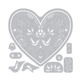 Sizzix Thinlits Die Set - Lace Heart by Katelyn Lizardi