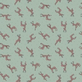 Lewis & Irene - Fat Quarter - Deer on sage