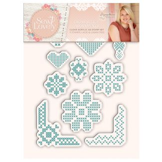 Sew Lovely - Clear Acrylic Stamp - Cross Stitch Adornments