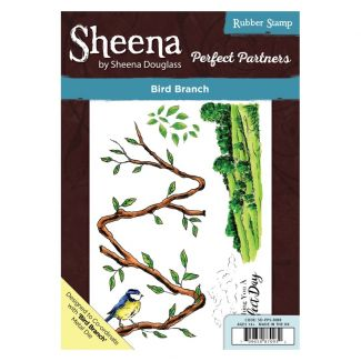 Sheena - A5 Stamp - Bird Branch