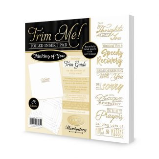 Thinking of You - Trim Me! Foiled Insert Pad - Gold