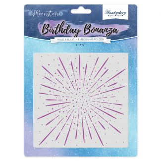Moonstone Embossing Folder - Have A Blast!