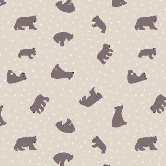 Lewis & Irene - Fat Quarter - Starry Bear natural