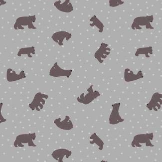 Lewis & Irene - Fat Quarter - Starry Bear grey