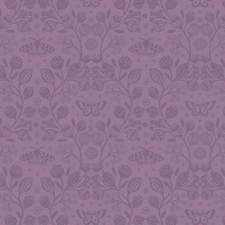 Lewis & Irene - Fat Quarter - Winter Garden mono purple