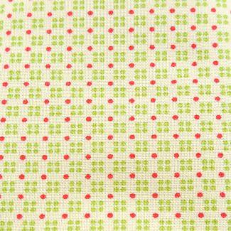 Clover Hollow - Green & Raspberry Dots