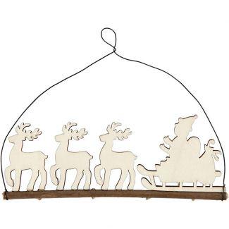 Reindeer Sleigh Christmas Ornament