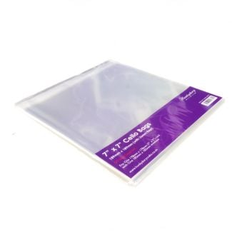"""Clear Display Bags - For 7"""" x 7"""" Card & Envelope - x 50 Bags"""