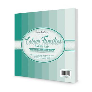Colour Families Paper Pad - Turquoise