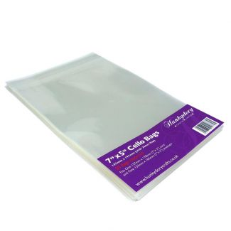 """Clear Display Bags - For 7"""" x 5"""" Card & Envelope - x 50 Bags"""