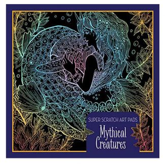 Mythical Creatures Scratch Art Pad