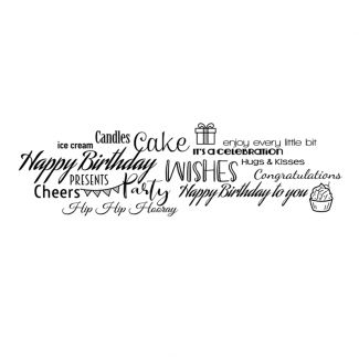 Woodware Clear Stamp - All About Birthdays