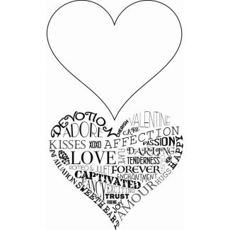 Sweet Dixie Typography Clear Stamp - Heartfelt