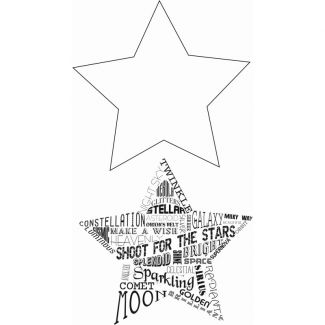 Sweet Dixie Typography Clear Stamp - Shooting Star