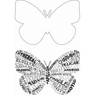 Sweet Dixie Typography Clear Stamp - Flutterby
