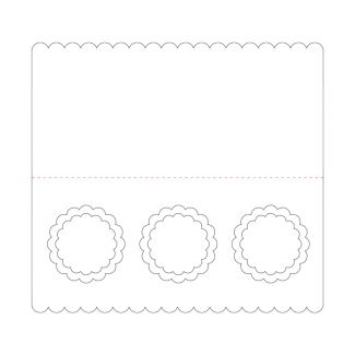 Ink Me! Luxury Shaped Cards - Triple Scalloped Aperture