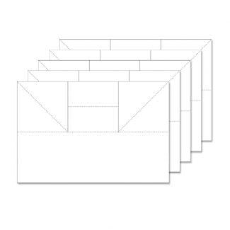 Fancy Shaped Card Blanks - Triple Easel - Ink Me!