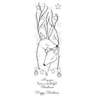 Woodware Festive Clear Stamp - Starry Reindeers