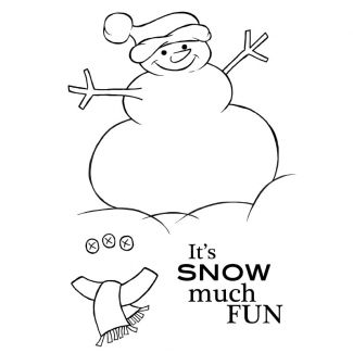 Woodware Festive Clear Stamp - Chunky the Snowman