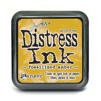Mini Distress Pads - Fossilized Amber