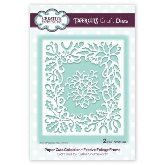 Paper Cuts Collection - Festive Foliage Frame