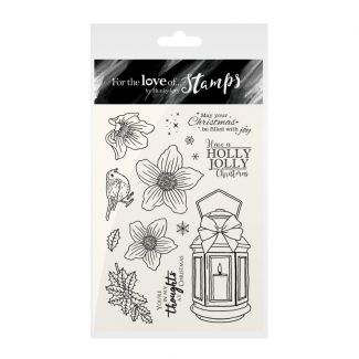 For the Love of Stamps - Christmas Rose Lantern