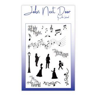 John Next Door A6 Clear Stamp - Christmas Music