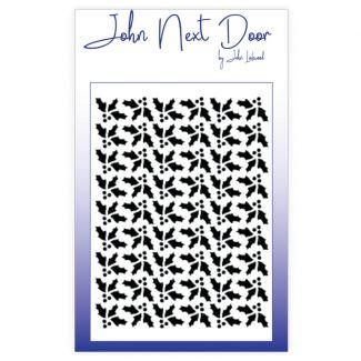 John Next Door Mask Stencil - Holly Quilt