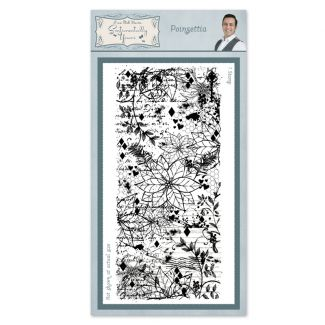 Poinsettia Pre Cut Stamp