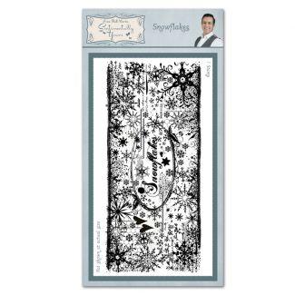 Snowflake Pre Cut Rubber Stamp