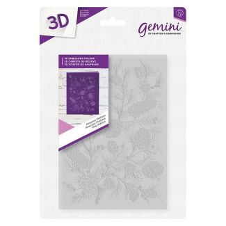 5 x 7 3D Embossing Folder - Pinecone Plethora