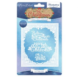 The Joy of Christmas Moonstone Die Set - A Holly Jolly Christmas