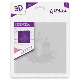 6 x 6 3D Embossing Folder - Christmas By Candle Light