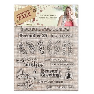 A Winters Tale - A6 Clear Acrylic Stamp - Joy to the World