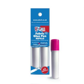 Stix2 Fabric Glue Pen Refills - Pink