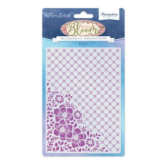 Trellis Blossoms Moonstone Embossing Folder