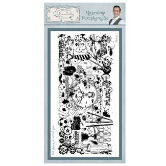 Masculine Paraphernalia Rubber Stamp