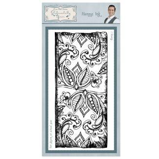 Henna Ink Rubber Stamp