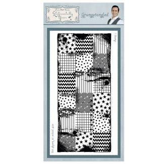 Grungetangled Rubber Stamp