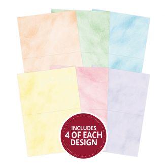 """Brushed Pastels 7""""x5"""" - Design Essentials Card Blanks & Envelope Pack"""