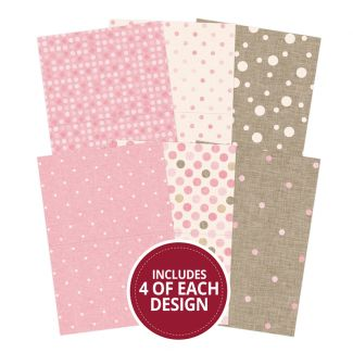 "Linen Polka Dots 7""x5"" - Design Essentials Card Blanks & Envelope Pac"