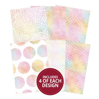 "Rainbow Radiance 7""x5"" - Design Essentials Card Blanks & Envelope Pack"