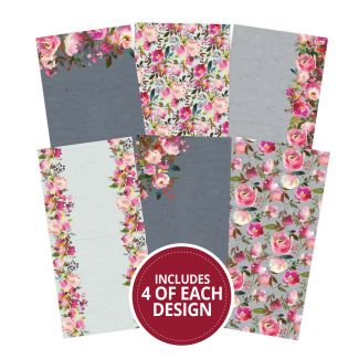 "Floral Watercolours 6""x6"" - Design Essentials Card Blanks & Envelope Pack"